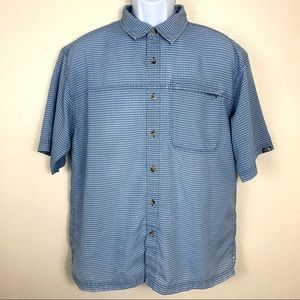 The North Face plaid Blue Shirt size Large